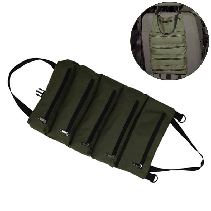 Hot Sale Roll Tool Roll Multi-Purpose Tool Roll Up Bag Wrench Roll Pouch Hanging Tool Zipper Carrier Tote Men's Bag